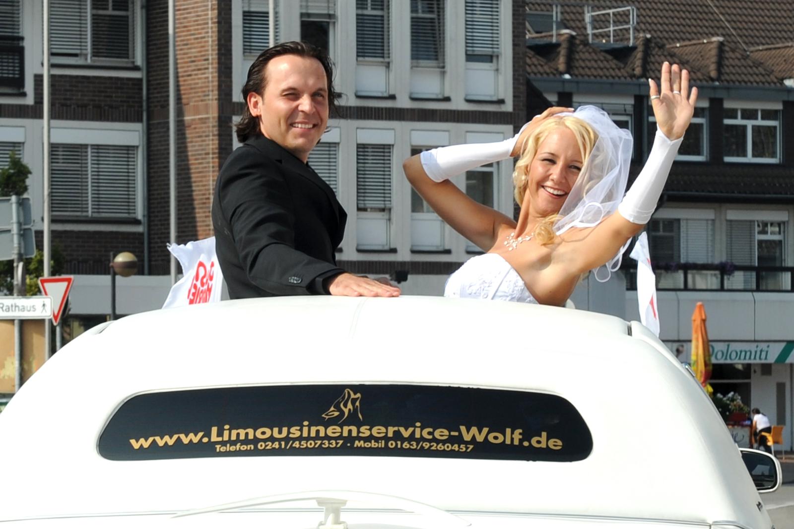 Limousinenservice-Wolf-Hochzeit